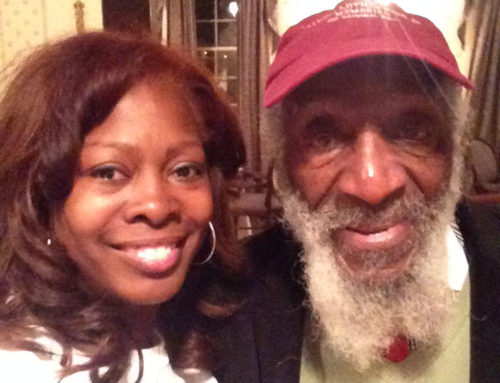with Dick Gregory
