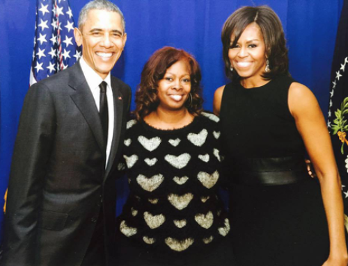 with the Obamas